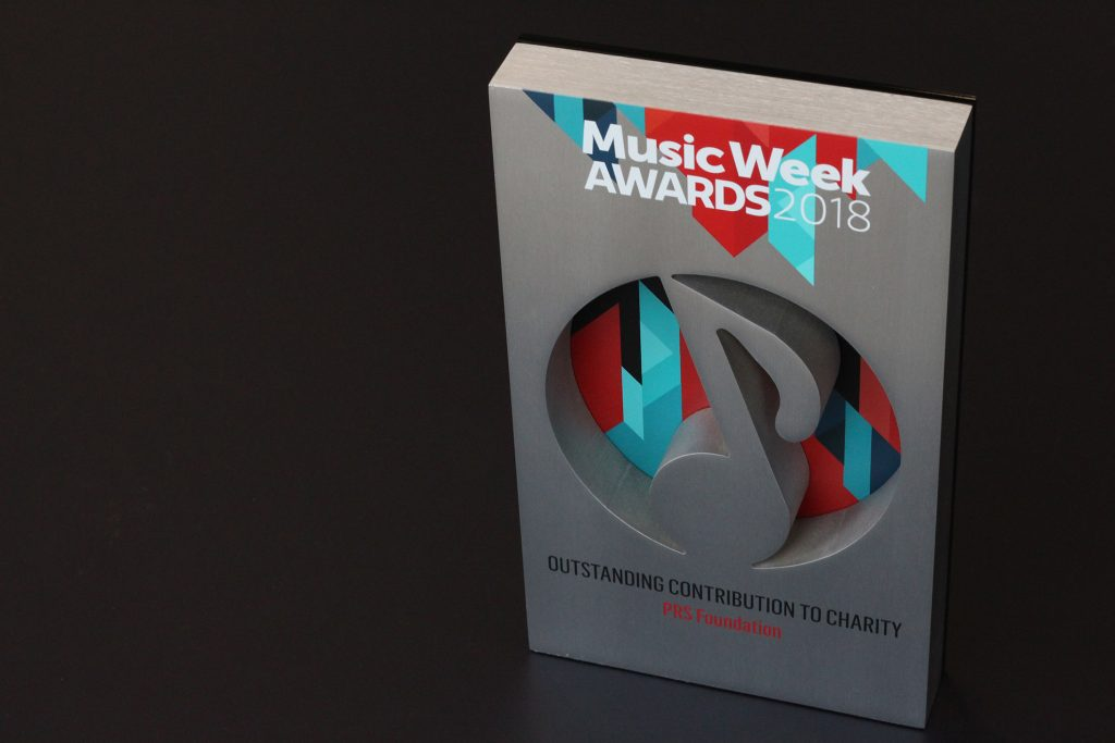 PRS Foundation receives Outstanding Contribution to Charity Award at Music Week Awards