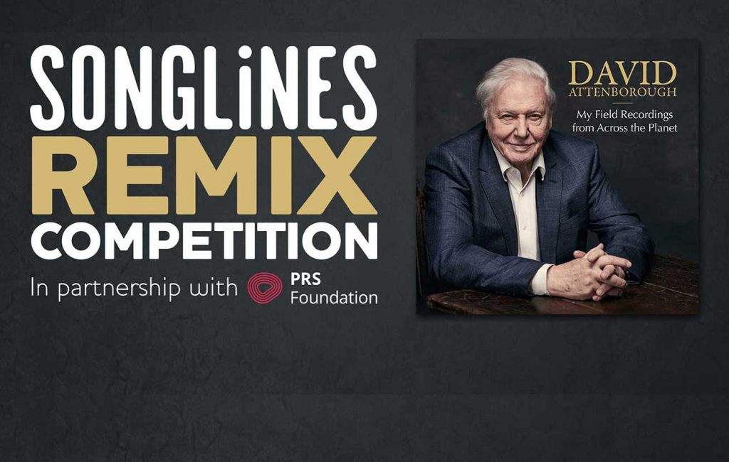 Public to vote for winner of Sir David Attenborough's field recording remix competition in partnership with Songlines