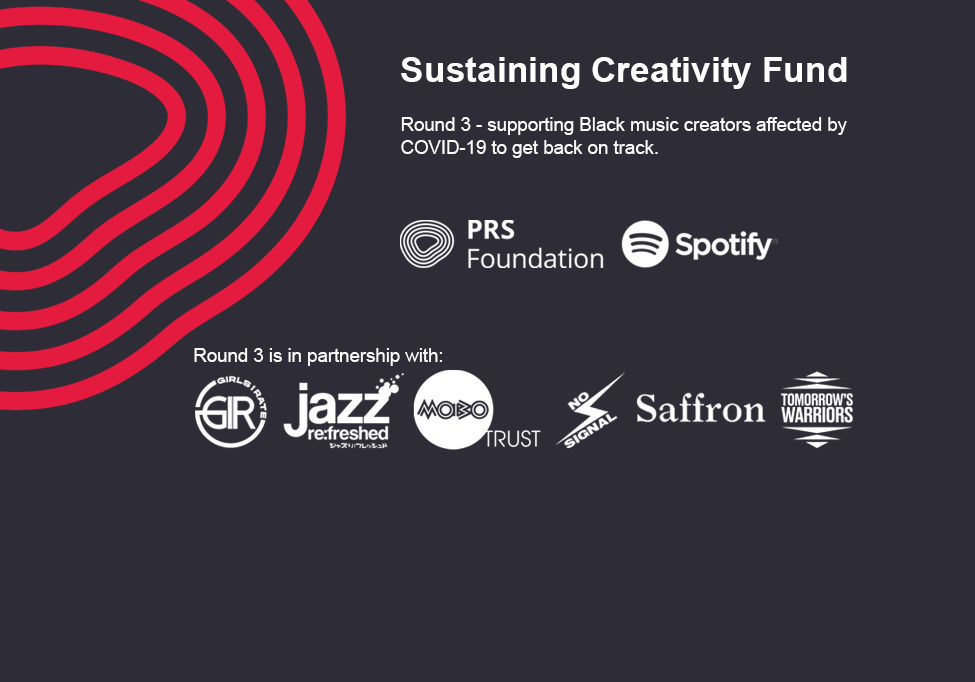 The third round of our Sustaining Creativity Fund to support exciting Black music creators affected by COVID-19